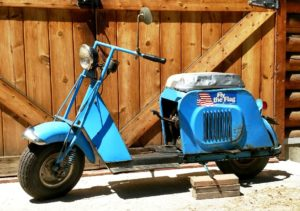 1-owner Cushman step-thru 4.8 HP Model 62 #17M7-3 with original paint, low miles (4704 miles). Have receipts to show work done in the past, always garage ...